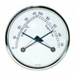 Thermo et Hydromètre analogique blanc, diamètre Ø70mm